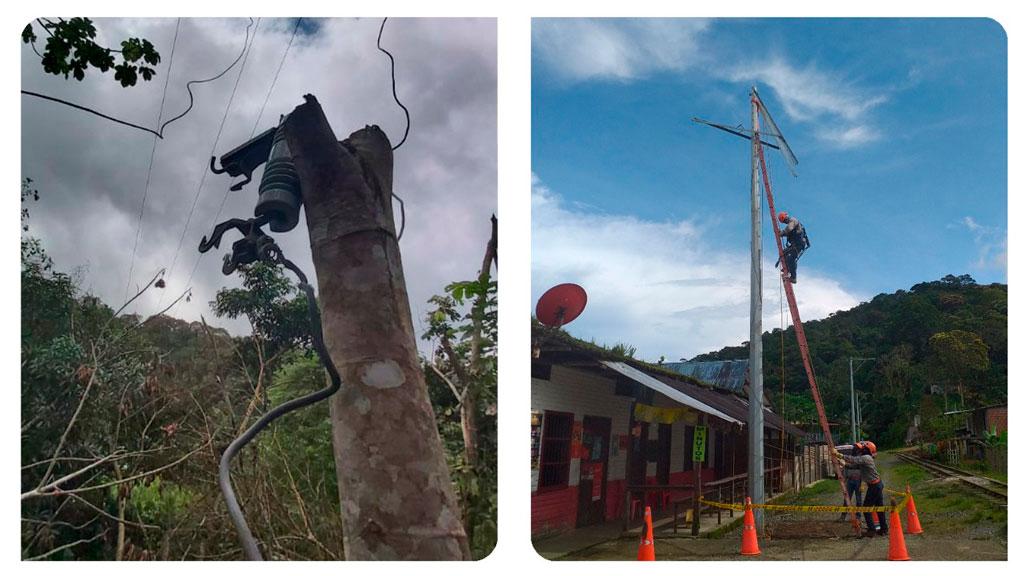Celsia hace un llamado a la comunidad para que cuide las obras que se realizan para mejorar la calidad del servicio de energía