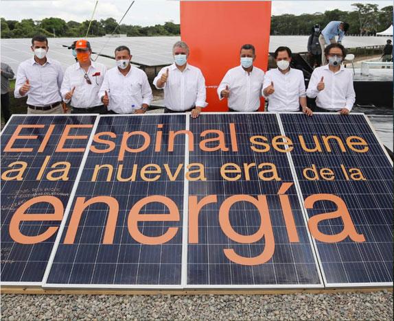 Celsia inaugura en El Espinal la primera granja solar del Tolima que genera 9,9 megavatios de energía limpia