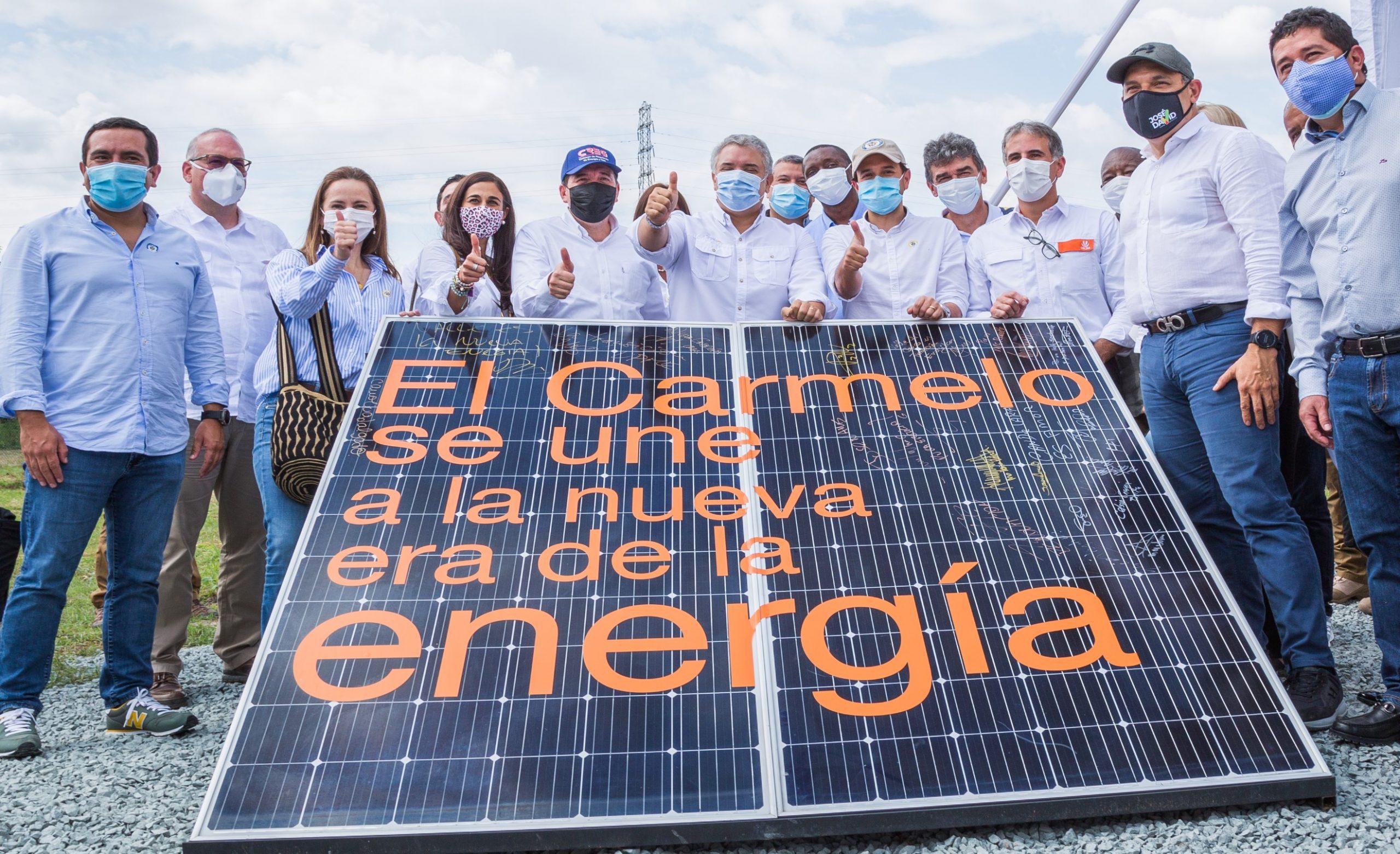 El presidente de la República, Iván Duque Márquez, visita Celsia Solar El Carmelo, la granja que suma energía limpia para la reactivación de Colombia