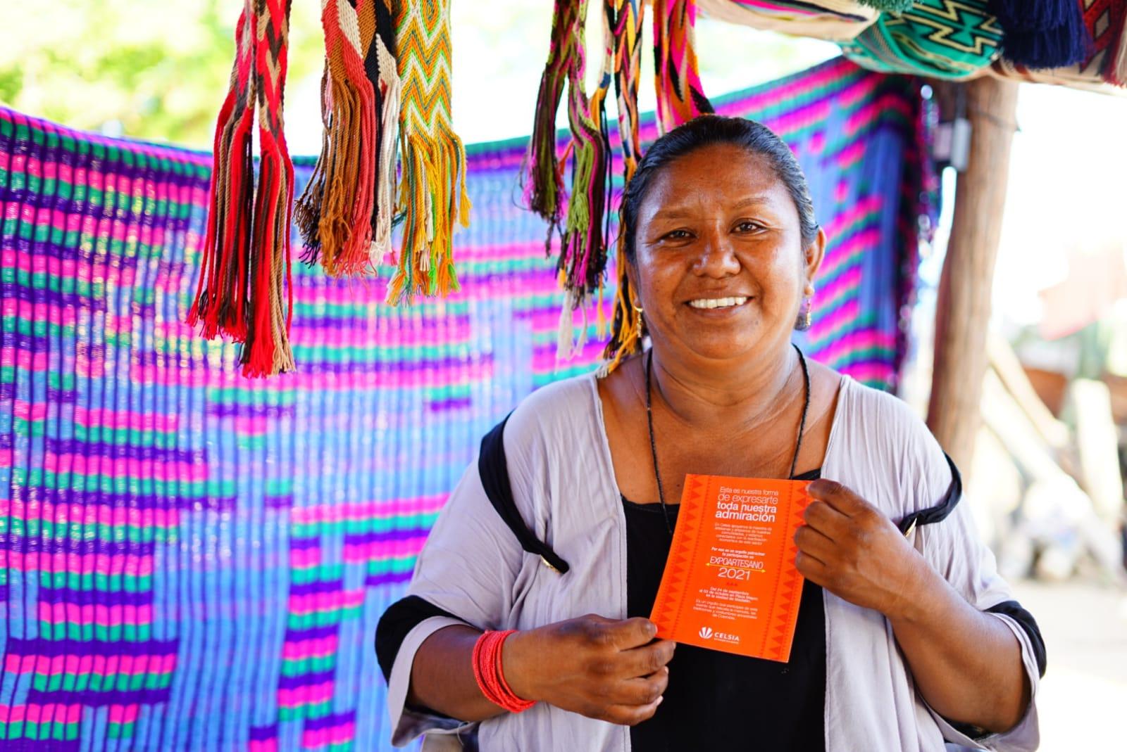 Cinco artesanos de Tolima, Valle y La Guajira participan, con el apoyo de Celsia, en la feria Expoartesano La Memoria que arrancó en Medellín