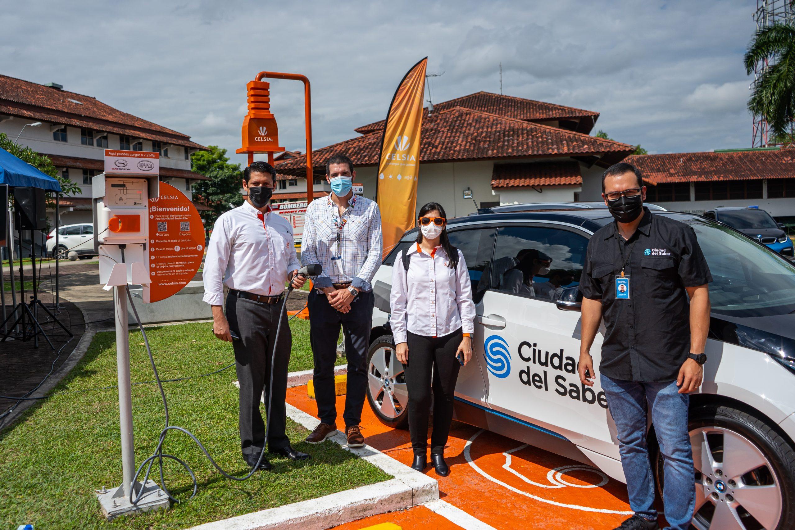 En Panamá, Celsia y Ciudad del Saber inauguran estación de recarga para vehículos eléctricos