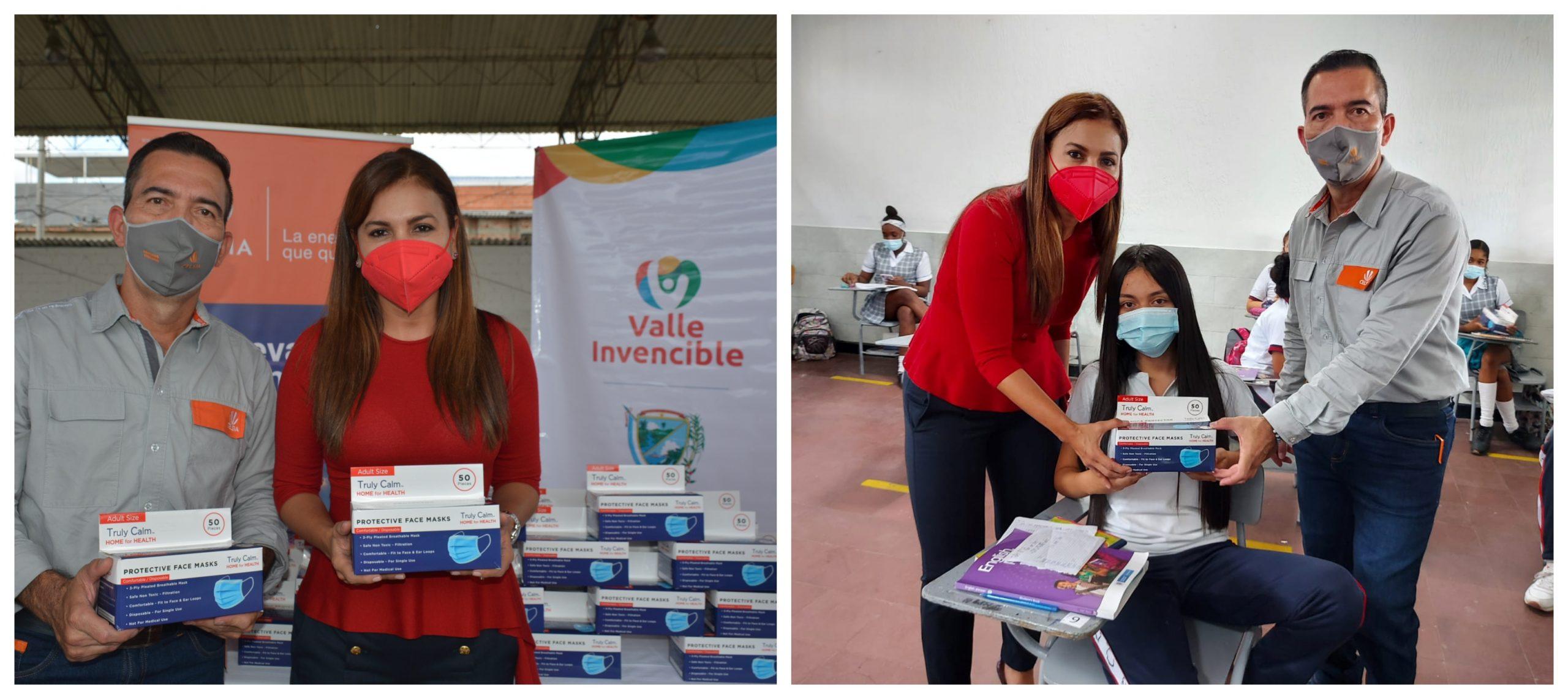 Celsia entrega 681.000 tapabocas a instituciones educativas de 10 municipios del Valle